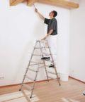 Genietete Stufen-Stehleiter 44203, 2 x 3 Stufen, beidseitig begehbar, eloxiert, Modell Scana B | günstig bestellen bei assistYourwork