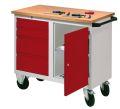 PAVOY Rollwerkbank mit 4 Schubladen und Schrankfach | günstig bestellen bei assistYourwork