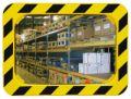 Industriespiegel 600x400mm, mit schwarz-gelbem Rahmen | günstig bestellen bei assistYourwork
