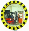 Industriespiegel 600mm Ø, mit schwarz-gelbem Rahmen | günstig bestellen bei assistYourwork