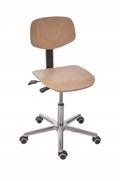 Arbeitsstuhl mit Alu-Fußkreuz mit Buche Rücken- und Sitzfläche | günstig bestellen bei assistYourwork