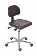 Arbeitsstuhl Komfortserie mit PU-Sitzfläche und Alu-Fußkreuz | günstig bestellen bei assistYourwork