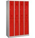 doppelstöckiger Garderobenschrank 2x4 Fächer, Abteilbreite 300 mm | günstig bestellen bei assistYourwork