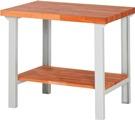 Werkbank mit Ablageboden höhenverstellbar HxBxT: 840 x 1000 x 700 mm | günstig bestellen bei assistYourwork