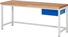 Werkbank Serie Basic-8 A3-8001I1-20S, HxBxT: 840 x 2000 x 700 mm | günstig bestellen bei assistYourwork