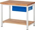 Werkbank Basic-8 mit Buche-Ablageboden HxBxT: 840 x 1000 x 700 mm | günstig bestellen bei assistYourwork