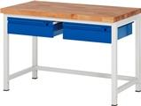 Werkbank Serie Basic mit 2 Schubladen HxBxT: 840 x 1250 x 700 mm | günstig bestellen bei assistYourwork