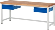 Werkbank Serie Basic mit 2 Schubladen HxBxT: 840 x 2000 x 700 mm | günstig bestellen bei assistYourwork