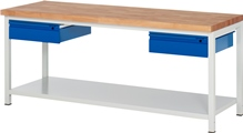 Werkbank Serie Basic-8 A3-8002I6-20S, HxBxT: 840 x 2000 x 700 mm | günstig bestellen bei assistYourwork