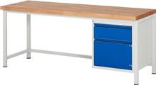 Werkbank Basic-8 A3-8152I1-20H, höhenverstellbar, HxBxT: 840-1040 x 2000 x 700 mm | günstig bestellen bei assistYourwork
