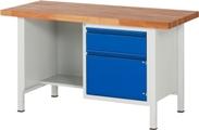 Werkbank Basic-8 A3-8455I2-15S, HxBxT: 840 x 1500 x 700 mm, mit halbem Ablageboden | günstig bestellen bei assistYourwork