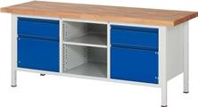 Werkbank Basic-8 A3-8561I2-20H, höhenverstellbar, HxBxT: 840-1040 x 2000 x 700 mm | günstig bestellen bei assistYourwork