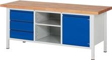 Werkbank Basic-8 A3-8563I2-20H, höhenverstellbar, HxBxT: 840 x 2000 x 700 mm | günstig bestellen bei assistYourwork
