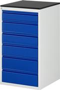 Schubladenschrank L, 1x120, 3x150, 2x180mm  Tragkraft pro Schublade 100 kg | günstig bestellen bei assistYourwork