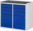 Schubladenschrank A3-LL7.2.2I-MT, 4x120, 2x150, 2x540 Tür, Tragkraft 100 kg | günstig bestellen bei assistYourwork