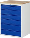 Schubladenschrank 1x120, 3x150, 2x180 mm 6xSchubladen, Flächenlast max.750 kg | günstig bestellen bei assistYourwork