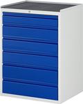 Schubladenschrank XL, 1x120, 3x150, 2x180mm  Tragkraft pro Schublade 75 kg | günstig bestellen bei assistYourwork