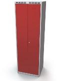 Doppelspind schwarz-weiß Trennung Abteilbreite 300 mm, einwandige Türen | günstig bestellen bei assistYourwork