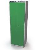 Doppelspind schwarz-weiß Trennung 2x400 mm, einwandige Türen | günstig bestellen bei assistYourwork