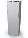 Doppelspind schwarz-weiß Trennung 2x300 mm, doppelwandige Türen | günstig bestellen bei assistYourwork