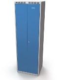 Doppelspind schwarz-weiß Trennung 2x400 mm, doppelwandige Türen | günstig bestellen bei assistYourwork