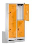 S 3000 EVOLO Kindergartenschließfach 2x2 Fächer, 1300x610x300mm, Sockel | günstig bestellen bei assistYourwork