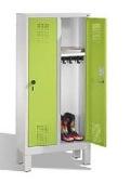 S 3000 EVOLO Kindergarten - Spind 2 Abteile, 1350x610x300mm, Füße | günstig bestellen bei assistYourwork