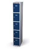 Fächerschrank doppelwandige Türen 5 Fächer HxBxT: 1920 x 300 x 500 mm | günstig bestellen bei assistYourwork