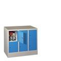 Fächerschrank mit 3 x 2 Fächern á 300 mm Abteilbreite, 855mm Gesamthöhe | günstig bestellen bei assistYourwork