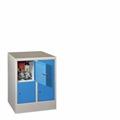 Fächerschrank mit 2 x 2 Fächern á 300 mm Abteilbreite, 855mm Gesamthöhe | günstig bestellen bei assistYourwork