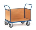 FETRA Dreiwandwagen 2530, 850x500mm Tragkraft 500kg, mit Wänden aus Holz | günstig bestellen bei assistYourwork
