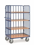 FETRA Etagenwagen 8311-1, 1169x630x1800mm Tragkraft 600kg, 4 Böden, 1 Längswand | günstig bestellen bei assistYourwork
