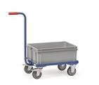 FETRA Griffroller KF4, mit 4 Rädern 1 niedriger Kunststoffkasten, Tragkraft 250kg | günstig bestellen bei assistYourwork