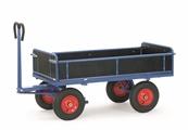 Mehr Details und Kaufen von FETRA Handpritschenwagen 6453V, Bordwände, 1200x800mm Tragkraft 700kg, Vollgummi-Bereifung | günstig bestellen bei assistYourwork