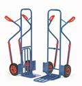 FETRA Paketkarren K1331V oder K1331L, 300kg Tragkraft mit Stahlblechschaufel und Klappschaufel | günstig bestellen bei assistYourwork
