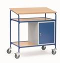 FETRA Rollpult 5838, 1000x600mm Tragkraft 100kg, mit Schreibfläche und Stahlschrank  | günstig bestellen bei assistYourwork