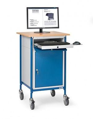 FETRA Rollpult 5839, 650x650mm Tragkraft 150kg, mit Tastaturschublade und Stahlschrank  | günstig bestellen bei assistYourwork