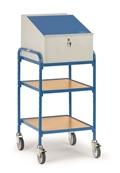 FETRA Rollpult 5844, 500x600mm Tragkraft 150kg, mit 2 Ablageböden und Schreibpult-Aufsatz  | günstig bestellen bei assistYourwork