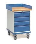 FETRA Rollschrank 2446, 650x550mm, Umrandung Tragkraft 150kg, 4 Schubladen | günstig bestellen bei assistYourwork