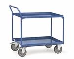 FETRA Tischwagen 4920, 850x500mm Tragkraft 400kg,2 Wannen Griff hochstehend | günstig bestellen bei assistYourwork