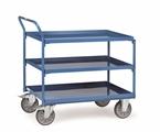 FETRA Tischwagen 4930, 850x500mm Tragkraft 400kg,3 Wannen Griff hochstehend  | günstig bestellen bei assistYourwork