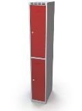 Schließfachschrank doppelwandige Türen Abteilbreite: 300 mm, 2 Fächer | günstig bestellen bei assistYourwork