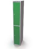 Schließfachschrank doppelwandige Türen Abteilbreite: 400 mm, 2 Fächer | günstig bestellen bei assistYourwork