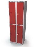 Schließfachschrank doppelwandige Türen Abteilbreite: 300 mm, 4 Fächer | günstig bestellen bei assistYourwork
