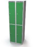 Fächerschrank doppelwandige Türen Abteilbreite: 400 mm, 4 Fächer | günstig bestellen bei assistYourwork