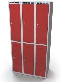 Schließfachschrank doppelwandige Türen Abteilbreite: 300 mm, 6 Fächer | günstig bestellen bei assistYourwork