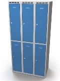 Schließfachschrank doppelwandige Türen Abteilbreite: 350 mm, 6 Fächer | günstig bestellen bei assistYourwork