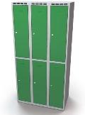Fächerschrank doppelwandige Türen Abteilbreite: 400 mm, 6 Fächer | günstig bestellen bei assistYourwork
