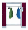 Schließfach-Garderobe mit 10 Fächern 300mm Abteilbreite,  | günstig bestellen bei assistYourwork