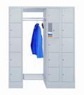 Offene Garderobe mit 3 Schließfachreihen á 5 Fächer, 300mm Abteilbreite | günstig bestellen bei assistYourwork